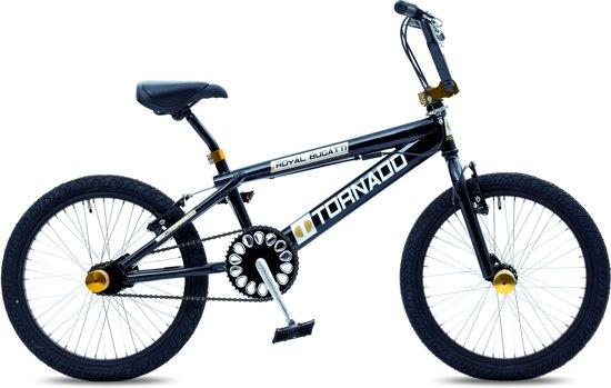 bol.com | Royal Bugatti Freestyle BMX fiets - 20 inch - Zwart/Goud