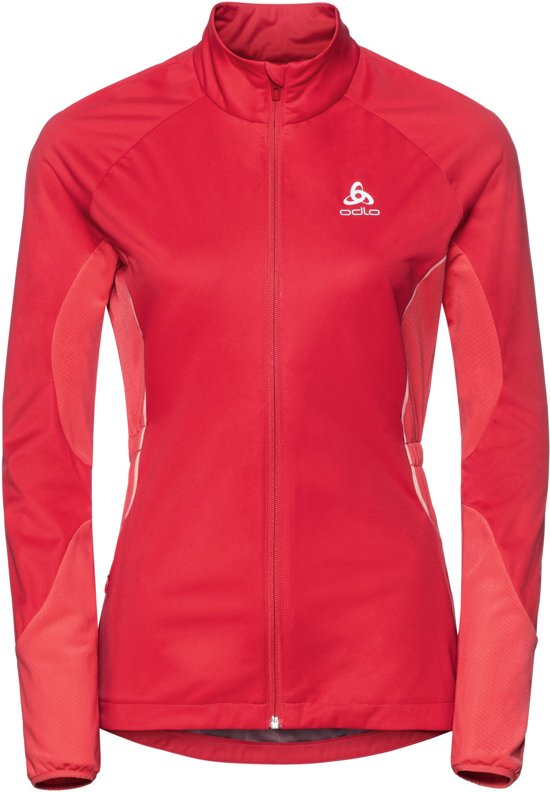 Odlo Jacket Zeroweight Windproof Warm Hardloopjas Dames - Hibiscus