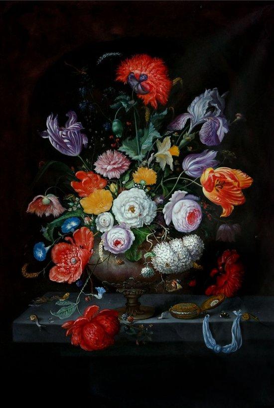 Schilderij Oilpainting Old Flowerbomb 2