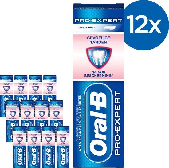Oral B Pro-Expert Gevoelige Tanden & Whitening - Voordeelverpakking 12 x 75ml - Tandpasta