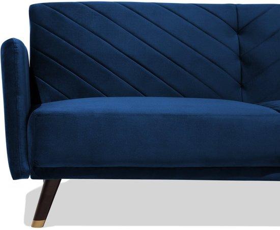 Beliani Senja Slaapbank Blauw 110x181
