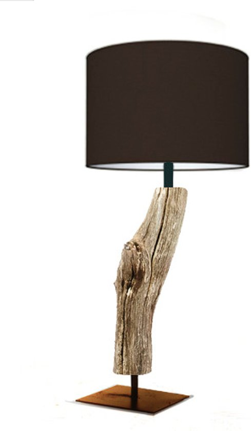 Welp bol.com | Houten boomstronk wandlamp (kap bruin) GM-11