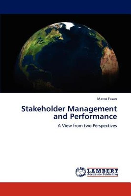 Stakeholder Management and Performance