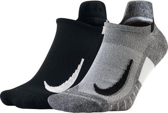 Nike Multiplier No Show  Sportsokken - Maat 38-41 - Unisex - grijs/zwart/wit