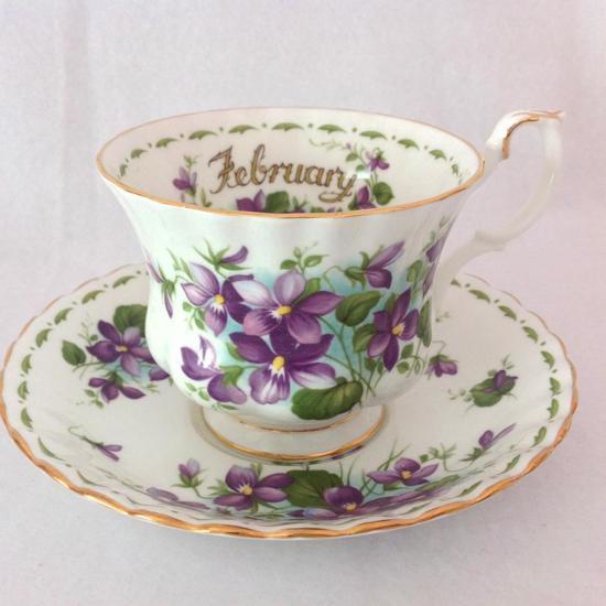 Royal Albert Servies Blauw.Bol Com Royal Albert Flowers Of The Month Feb Mini Kop