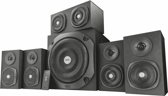 Trust Vigor 5.1 - Surround PC Speakerset - Zwart