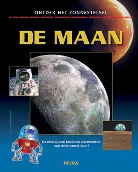 Cover van het boek 'De maan - op ontdekking door het zonnestelsel' van Giles Sparrow