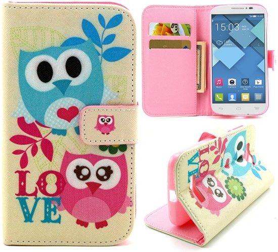 Couple owls wallet hoesje Alcatel one touch C7