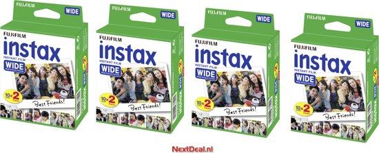 Fujifilm Instax Wide Film - 4 pack 10 x 2 - Geschikt voor 80 foto's