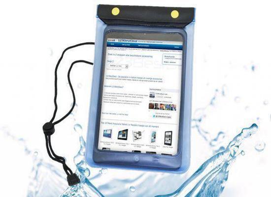 Waterdichte hoes voor de Apple Ipad Mini, transparant , merk i12Cover in Strijbeek