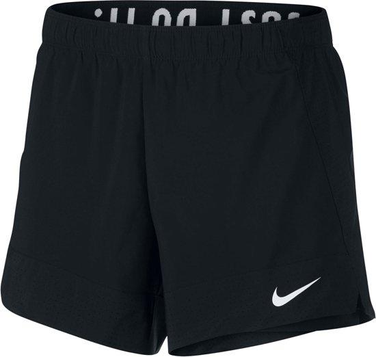 Nike Flex 2-in-1 Hardloop Short Dames Sportbroek performance - Maat L  - Vrouwen - zwart/wit