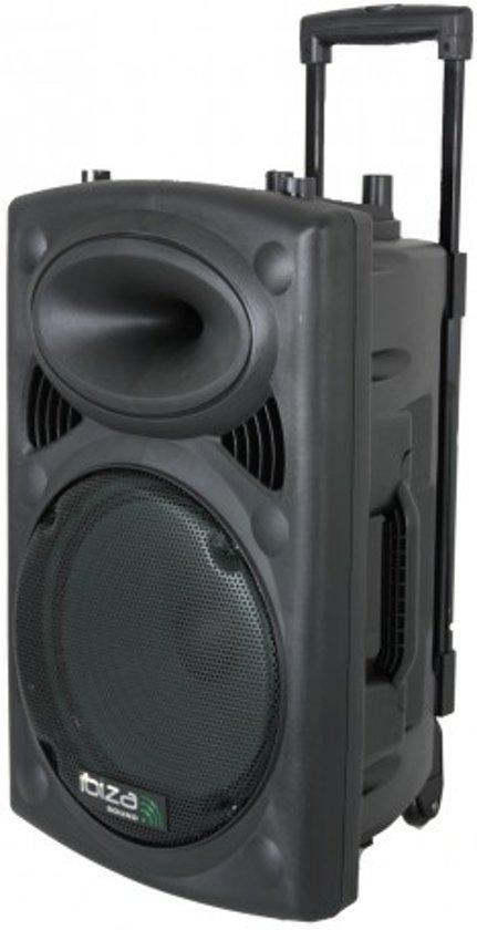 Ibiza Sound Mobiele geluidsinstallatie PORT10VHF-BT Max. 500W - Zwart