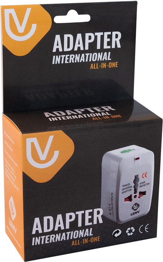 Reisstekker Reisadapter Wereldstekker – Reisverloopstekker met opberghoes