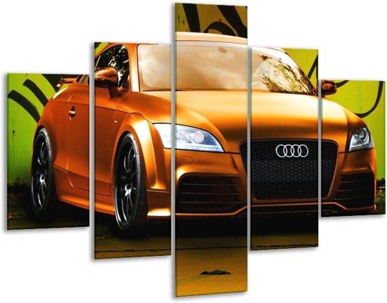 Glasschilderij Audi | Bruin, Groen, Zwart | 100x70cm 5Luik | Foto print op Glas |  F002351