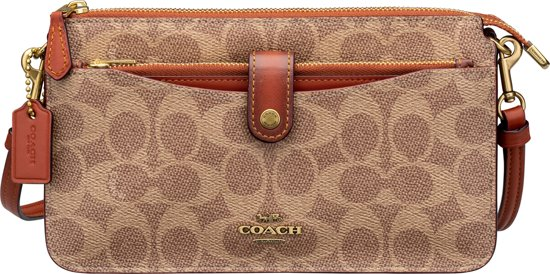 Beige Coach Dames Messenger Messenger Crossbodytas Coach ww8XB7