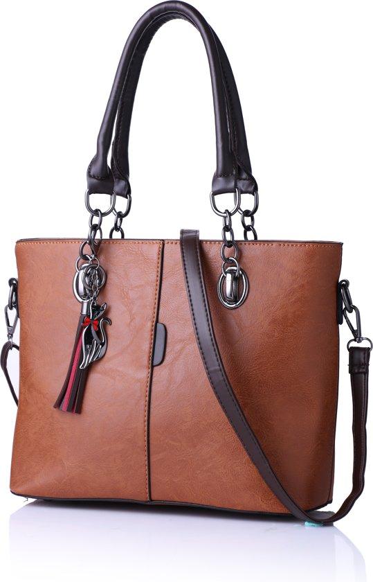 1ddf3aa978c bol.com | Handtas - Schoudertas - Western Bag Nubuck Style Tas - Bruin
