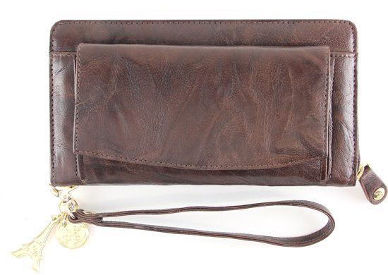 By LouLou SLB Buff Royal - Portemonnee - Dark Brown