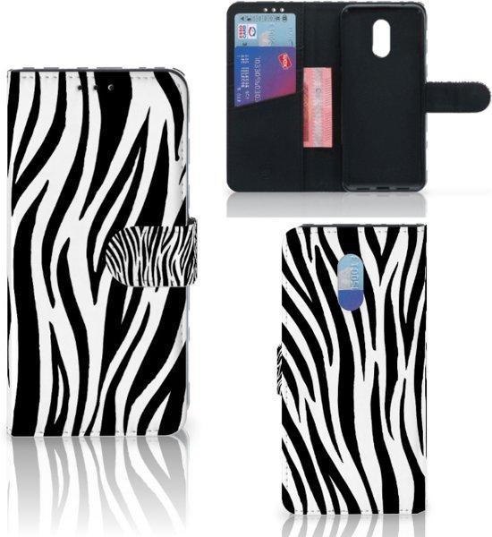 OnePlus 6T Telefoonhoesje met Pasjes Zebra