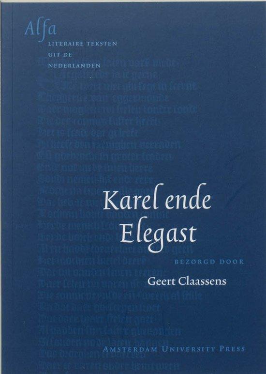 Boek cover Alfa-reeks - Karel ende Elegast van Anoniem (Paperback)
