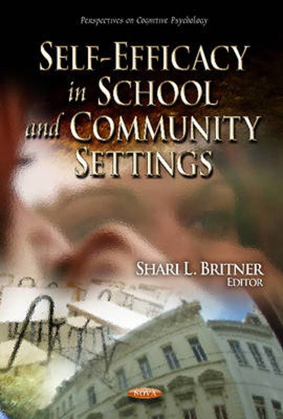 Self-Efficacy in School & Community Settings