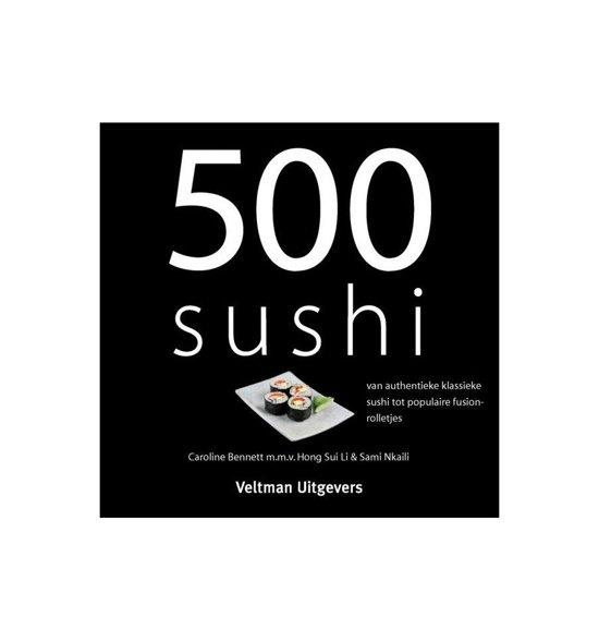 Boek cover 500 sushi van Caroline Bennett (Hardcover)