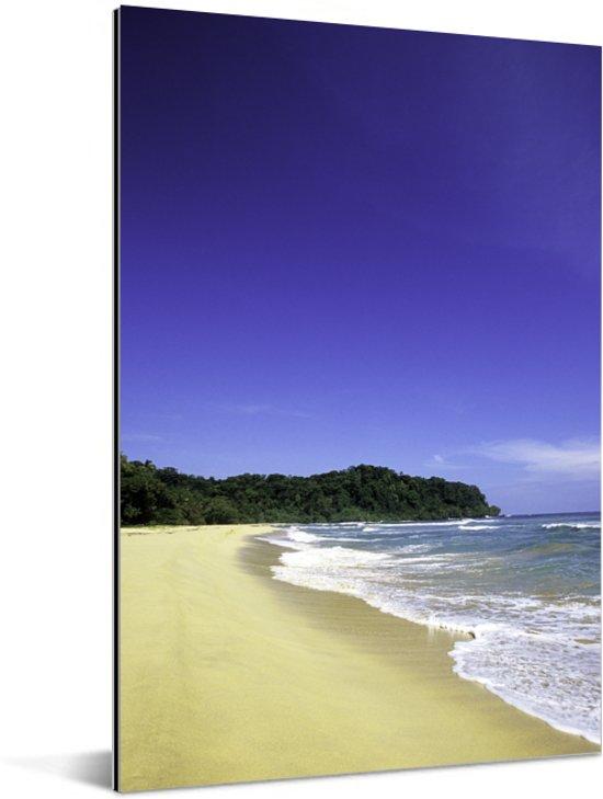 Gele zandstranden langs de kust in het Nationaal park Isla Bastimentos in Panama Aluminium 80x120 cm - Foto print op Aluminium (metaal wanddecoratie)