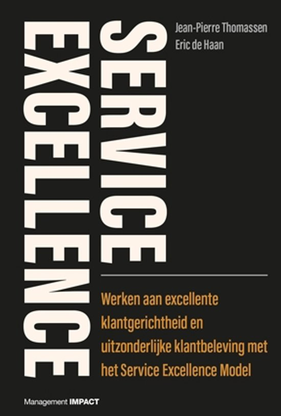 Boek cover Service excellence van Jean-Pierre Thomassen (Hardcover)