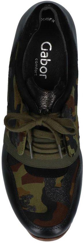 Camouflage Gabor Zwarte Sneakers Optifit Zwarte Camouflage uiPOkZXT