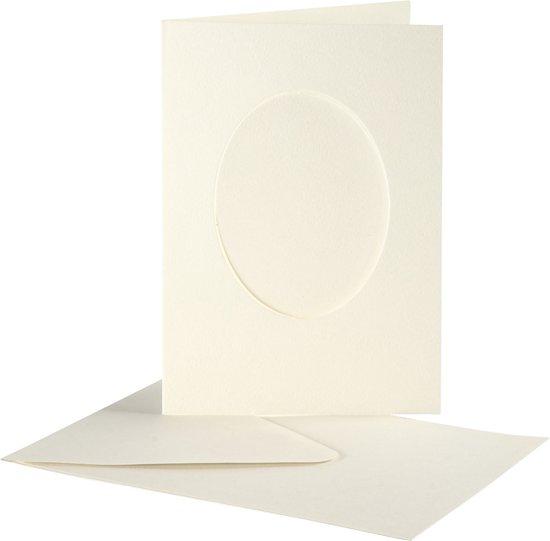 Passe Partout Kaarten.Passepartout Kaarten Afmeting Kaart 10 5x15 Cm Gatgrootte 6 5x8 8 Cm Off White Ovaal 10sets Afmeting Envelop 11 5x16 5 Cm