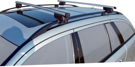 Universele Dakdragerset Twinny Aluminium Driver 124cm Voor Auto's Met Open Reling