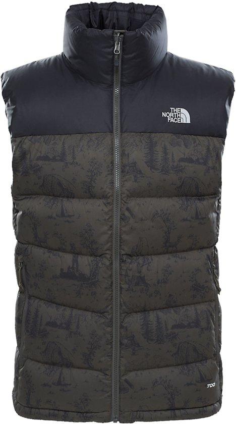 The North Face Nuptse 2 Dons Outdoorbodywarmer - Maat L - Mannen - grijs/ zwart