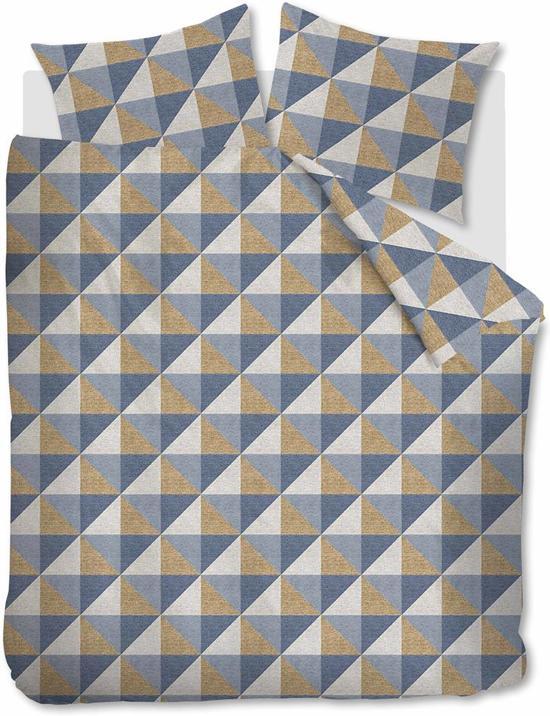 Beddinghouse Stairs -  Dekbedovertrek - Flanel - Eenpersoons - 140x200/220 cm - Goud