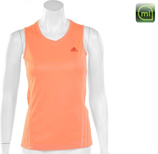 a02d519c4f3 adidas Snit Sleeveless Tee Women - Sportshirt - Dames - Maat 44 - Fluor  Zalm;