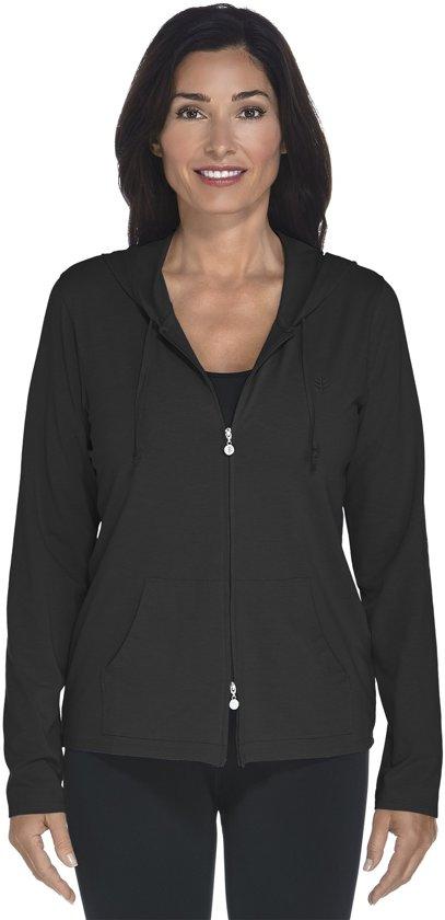 Coolibar UV hoodie Dames - Zwart - Maat 40