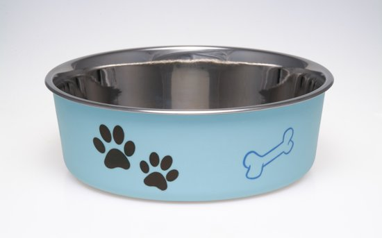 Loving Pets Bella Bowl - Voerbak - Medium 750ml - Murano Blauw