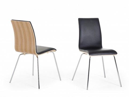 Onwijs bol.com | Stoel bruin, eetkamerstoel, keukenstoel, leren stoel, HARLEM UR-78