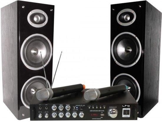 LTC Audio Karaoke set met met display Bluetooth & 2 draadloze microfoons