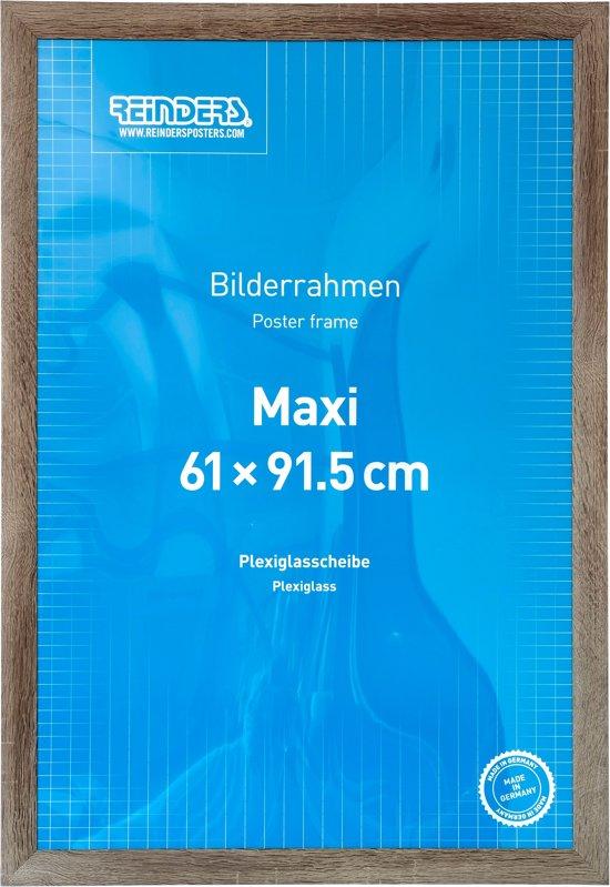 Lijst 61 X 91.Reinders Wissellijst Postermaat 61x91 5cm Truffel
