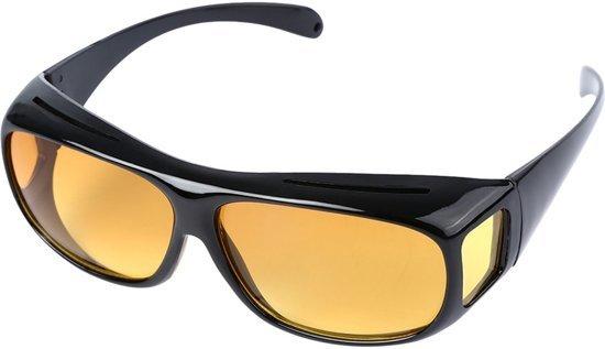 Overzet Nachtbril - Autobril / Mistbril - Nachtzicht Auto Bril - Dames / Heren (BESTSELLER)