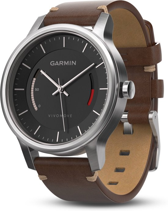 Garmin Vivomove Premium - Activity tracker - Zwart/Bruin/Titanium