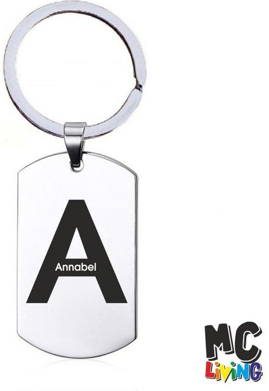 Naamkado - Annabel - RVS Sleutelhanger