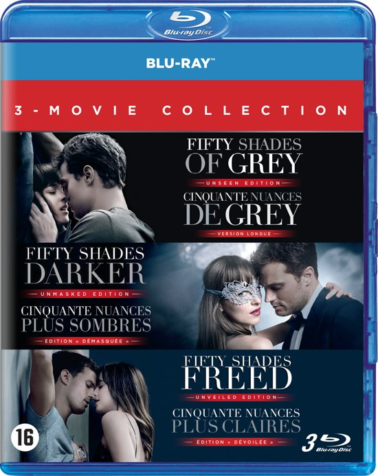 DVD cover van Fifty Shades Trilogy (Blu-ray)