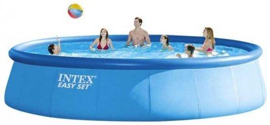 Intex Easy Set Opblaaszwembad Met Accessoires 457 X 107 Cm Blauw