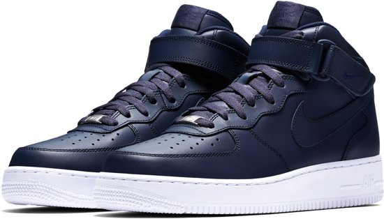 nike air force 1 mid heren zwart