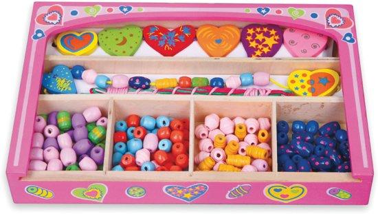 Viga Toys - Houten Rijgkralen Set - Hart