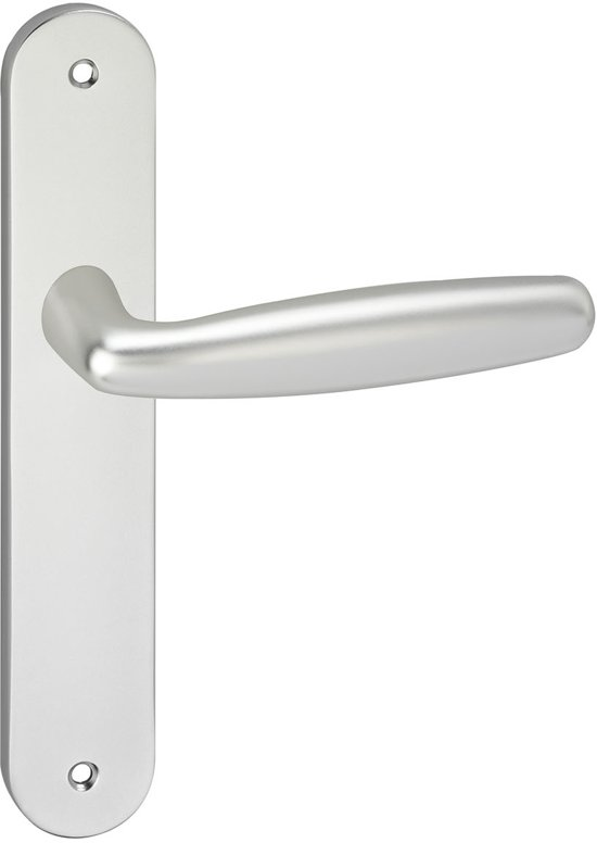 Impresso Cambridge Deurbeslag - Voor binnen - Ovaal deurschild met schroeven - Aluminium