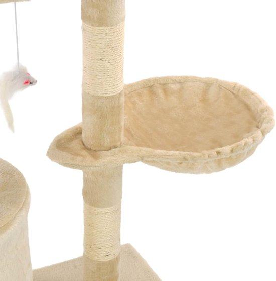 vidaXL Kattenkrabpaal met sisal krabpalen 138 cm beige