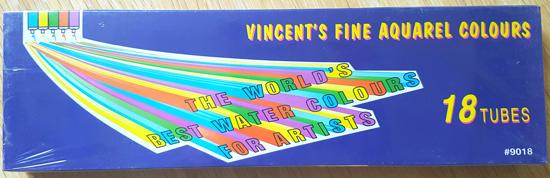 18 x Verftubes Vincent's fine aquarel colors