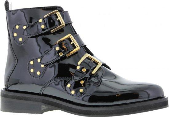 Tango | Pleun Fat 52-d Black Patent Leather/black Studs Straps - Sole Maat: 37