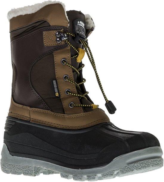 Wintergrip Snowboots - Maat 44 - Unisex - bruin/grijs/geel
